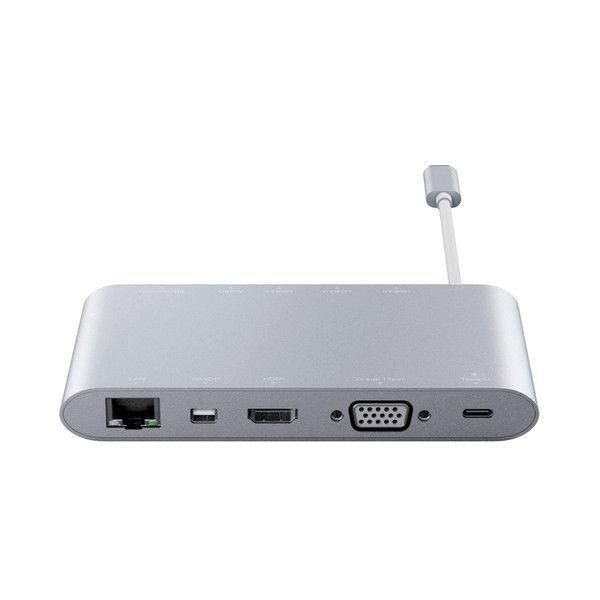 エレコム USB Type-C接続ドッキングステーション(PD対応) DST-C01SV 1個 (直送品)