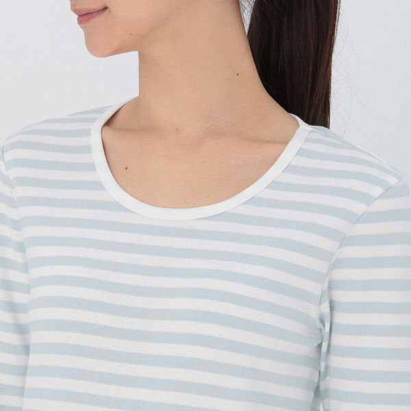 無印 ストレッチ長袖Tシャツ 婦人 M