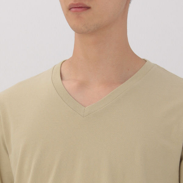 無印 Vネック長袖Tシャツ 紳士 M