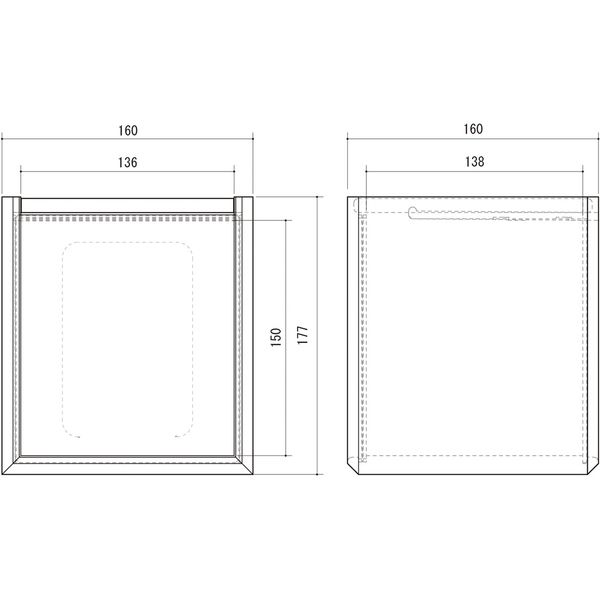 朝日木材加工 ペット仏壇 クロシェ 幅160×奥行160×高さ177mm ナチュラル CLP-1816BX-NA 1個(直送品)