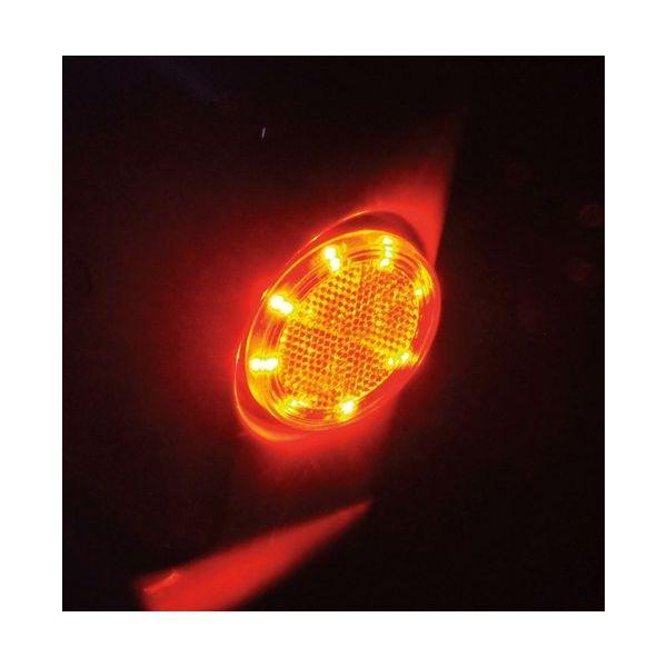 YAC 槌屋ヤック 灯火 LED 流星レフランプ 丸 レッド/レッド(光) DC24V CE-344R 1セット(2個入)(直送品)