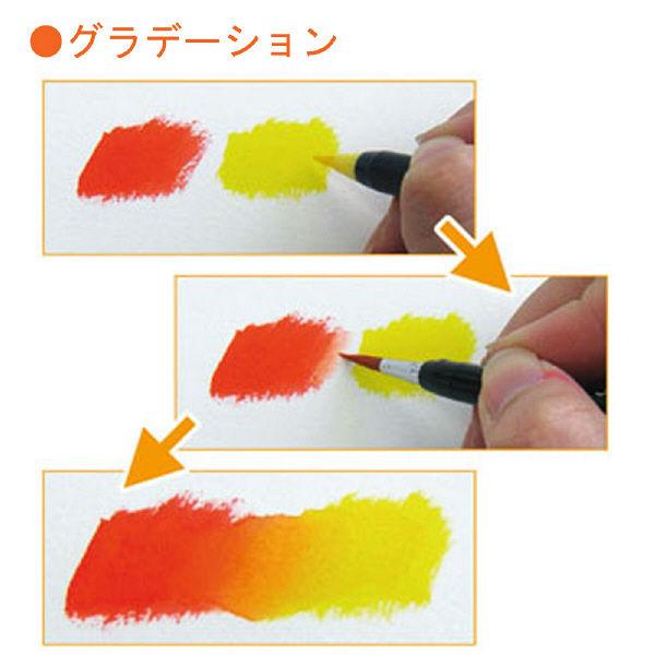 水彩毛筆 色筆ペン 紅色 5本(直送品)