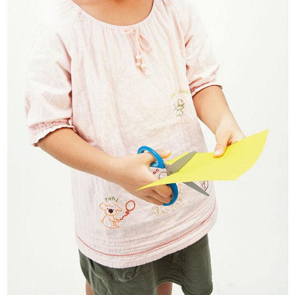 クツワ 学童はさみ「ヒラクーノ」(右手用ブルー) SS104BL 5個 (直送品)