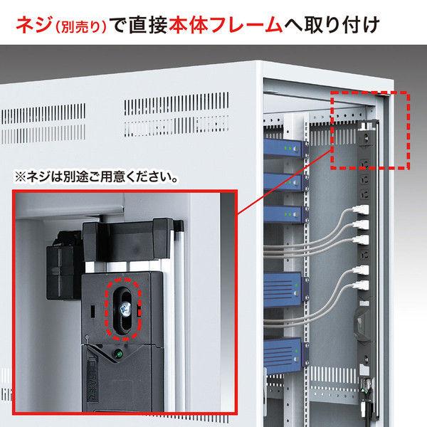 サンワサプライ 19インチサーバーラック用コンセント(30A) TAP-SVSL3012C (直送品)
