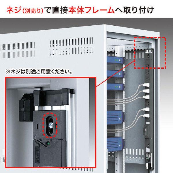 サンワサプライ 19インチサーバーラック用コンセント(30A) 電流表示機能付き TAP-SVSL3024AN (直送品)