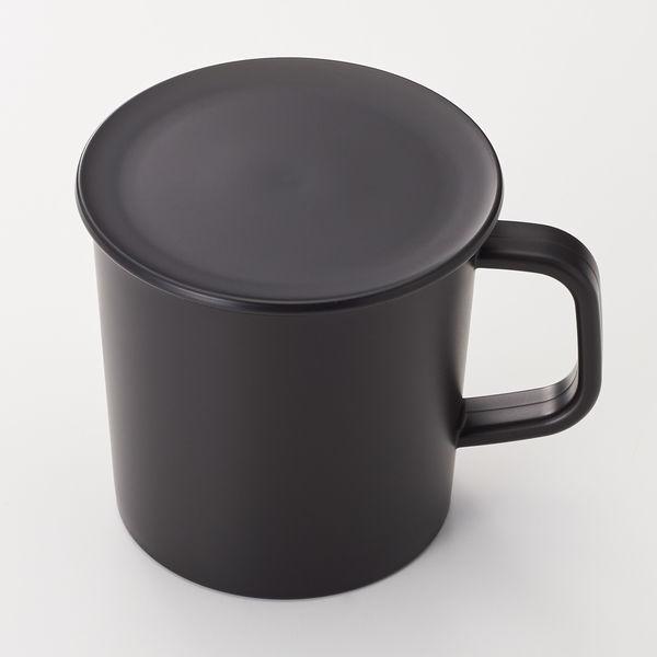 PPふた付きマグカップ・黒 約270ml