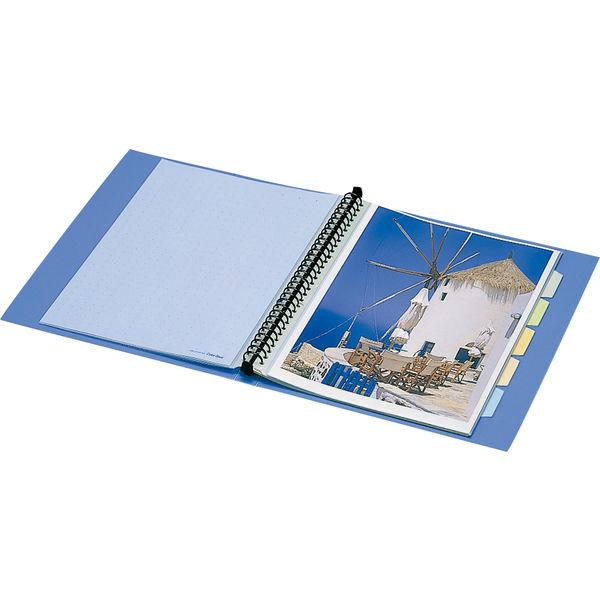 キングジム クリアファイル 差し替え式 20冊 A4タテ背幅49mm カラーベース 黒 139-3