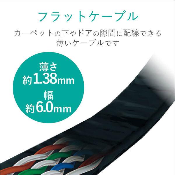 エレコム LANケーブル/CAT6/フラット/10m/ブラック LD-GF2/BK10(直送品)