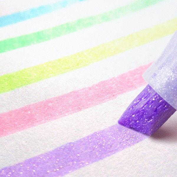 ラメ入り蛍光ペン キラリッチ 3色セット