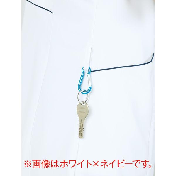 住商モンブラン ラウンドカラージャケット 医療白衣 レディス 半袖 サックスブルー(水色) M 73-1944 (直送品)