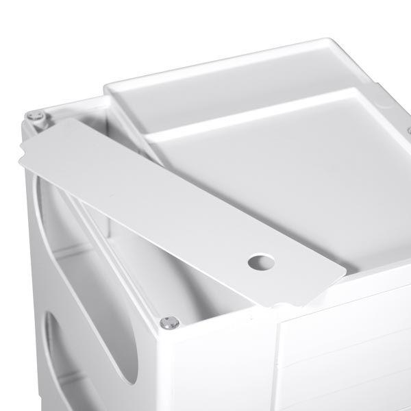 ビーライン ボビーワゴン 3段/3トレイ(浅型) ホワイト 1台 (直送品)