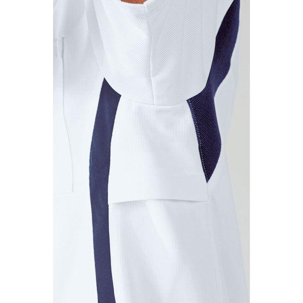 住商モンブラン アシックス スクラブジャケット(男女兼用) 半袖 ダークブルー×ペールブルー LL CHM301-0403 (直送品)