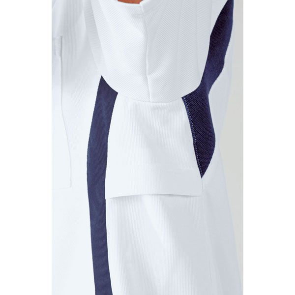 住商モンブラン アシックス スクラブジャケット(男女兼用) 半袖 ミント×ネイビー L CHM301-0709 (直送品)