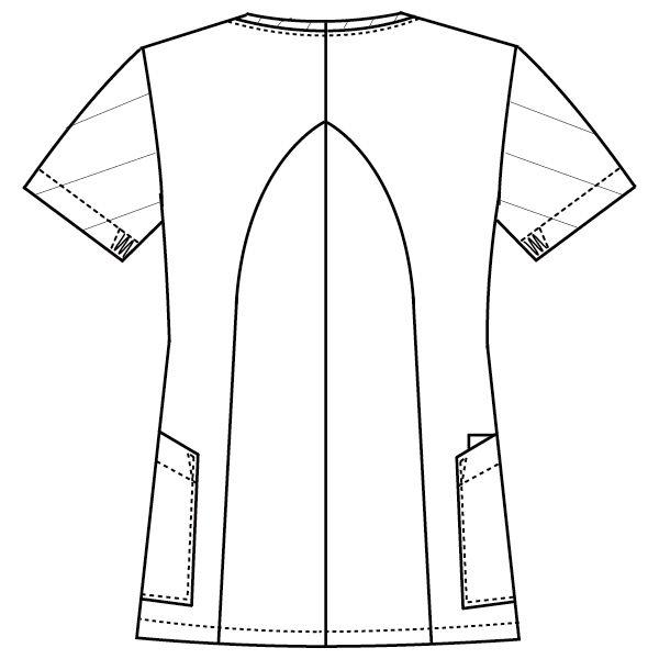 フォーク 医療白衣 ワコールHIコレクション レディスジップスクラブ (サイドジップ) HI701-13 オークル×リリスピンク  L (直送品)