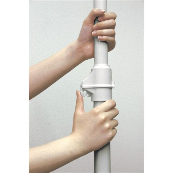 ドリームウェア ドリームハンガー ワンタッチ式 突っ張りポールハンガー 直径320×高さ1700-2800mm ホワイト (直送品)