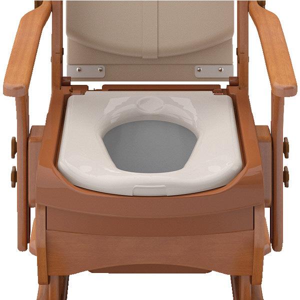 アロン化成 安寿 家具調トイレセレクトR ノーマルワイド 暖房・快適脱臭 533-861 (直送品)