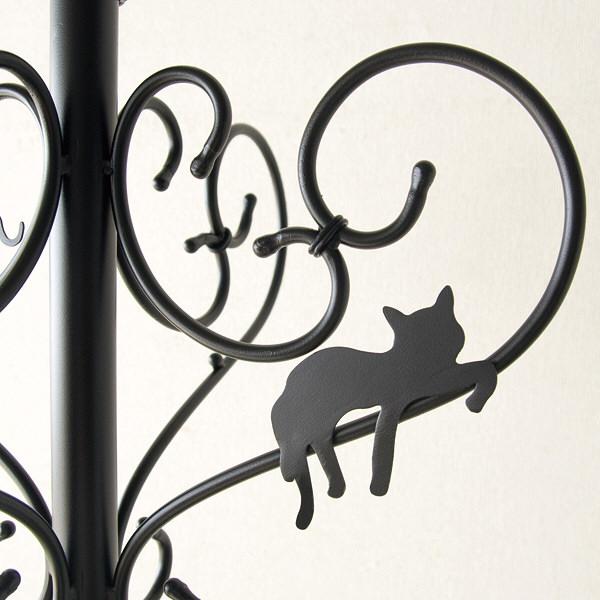 宮武製作所 猫のポールハンガー ブラック P-1710 (直送品)