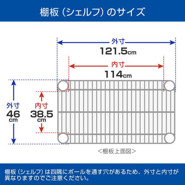 ルミナス ポール径25mm セット品 メタルラック 5段 幅1215×奥行460×高さ1795mm NLH1218-5