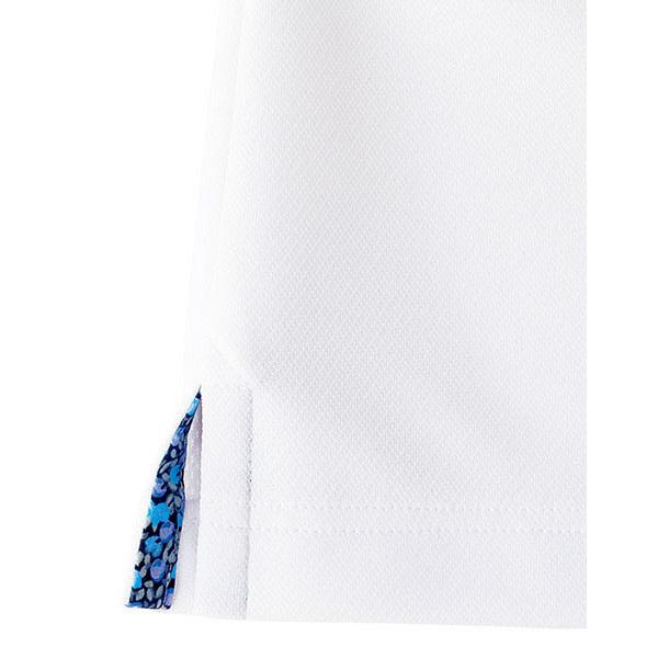 【メーカーカタログ】ボンマックス メンズ吸水速乾ポロシャツ(花柄A) ホワイト L FB5024M 1枚 (直送品)