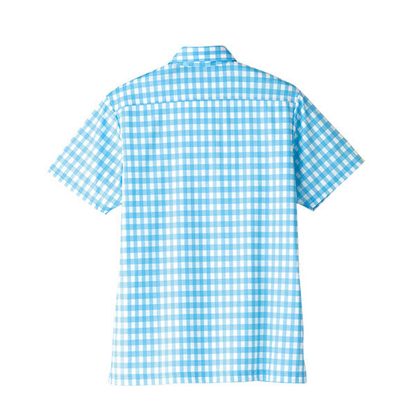 【メーカーカタログ】ボンマックス チェックプリントポロシャツ(半袖) ラベンダー 4L FB4523U 1枚 (直送品)