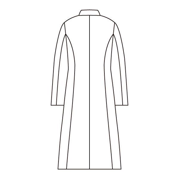 住商モンブラン ローラアシュレイ レディスドクターコート 長袖 ホワイト ダブル LL LW101-11 (直送品)