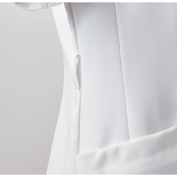 住商モンブラン ローラアシュレイ ナースジャケット レディス 半袖 オフホワイト×アメリピンク L LW803-12 (直送品)