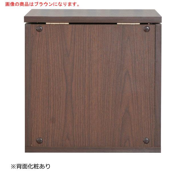 佐藤産業 hako組合せ収納ボックス(ドレッサータイプ) 幅390×奥行390×高さ390mm ブラウン ha39-39C_BR 1台 (直送品)