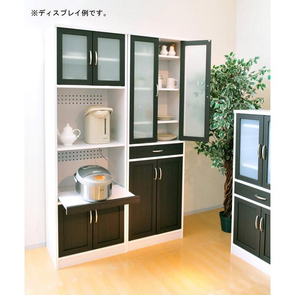 佐藤産業 カフェティラ 食器棚 幅580mm×高さ1820mm ホワイト CTS180-60G 1台 (直送品)