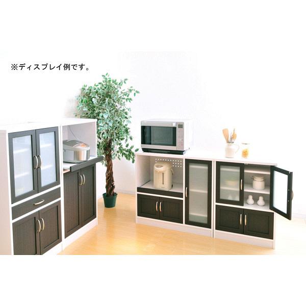 佐藤産業 カフェティラ 食器棚 幅580mm×高さ824mm ホワイト CTS90-60G 1台 (直送品)