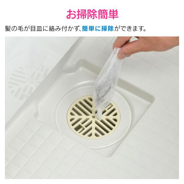 ガオナ お風呂の排水口ネット 100枚入り (髪の毛とり つまり防止 衛生的 取付簡単) GA-FW012 (直送品)