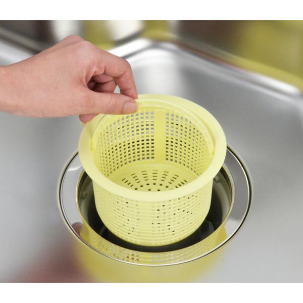 ガオナ シンク用 ゴミカゴ 排水口のゴミ受け プラスチック製 GA-PB013 (直送品)