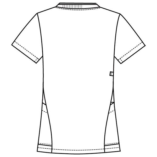 フォーク 医療白衣 レディスジップスクラブ 7043SC ターコイズ×ダークネイビー S 1枚 (直送品)