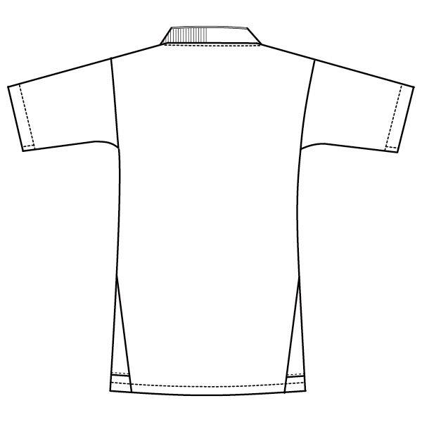 フォーク 医療白衣 メンズジップスクラブ 7044SC ターコイズ×ダークネイビー S 1枚 (直送品)