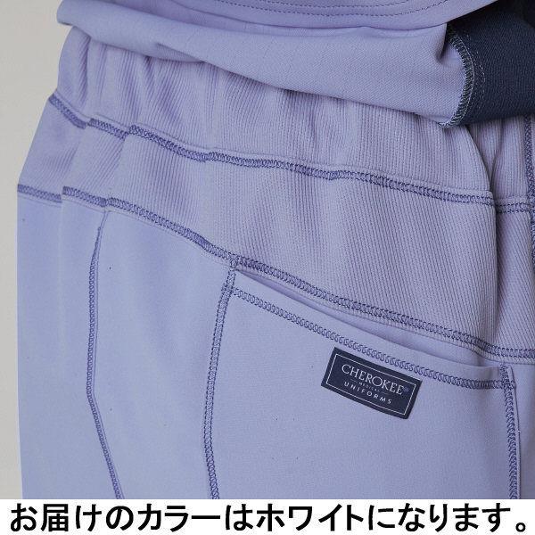フォーク CHEROKEE(チェロキー) 医療白衣 パンツ CH351 ホワイト S 1枚 (直送品)