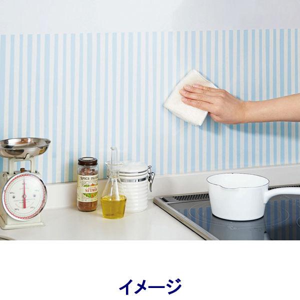 拭き取り簡単キッチンシート2枚ストライプ