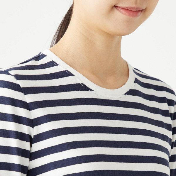 無印 天竺編み長袖Tシャツ 婦人 L