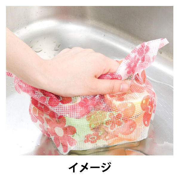 らくらっくー 花柄水切りゴミ袋 2個組