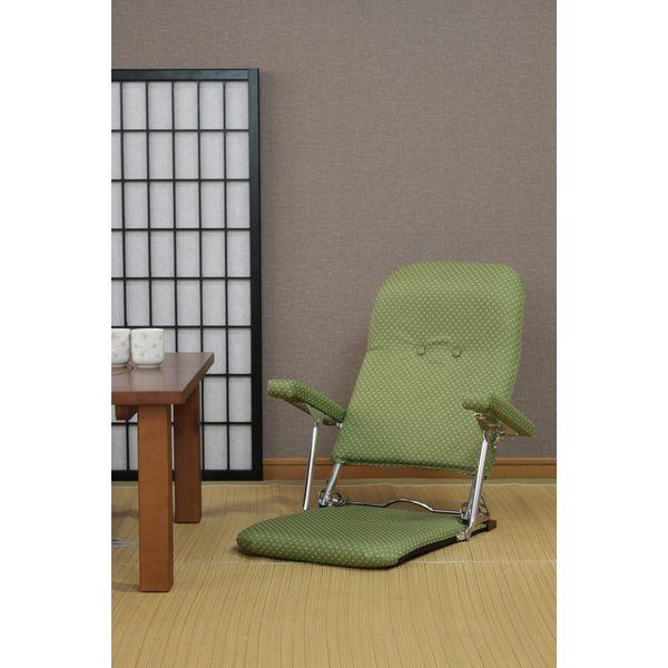 ミヤグチ企販 和風折りたたみ肘付き座椅子ブラウン<いこい> 6585010(直送品)