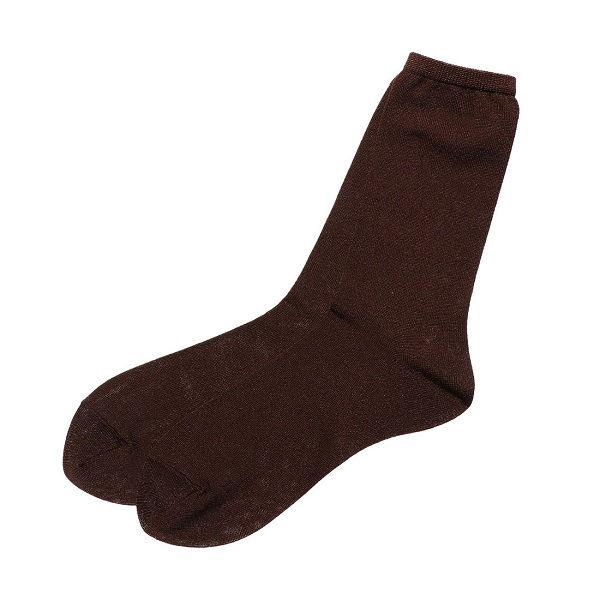 ラメ平無地ソックス 婦人靴下 4色セット