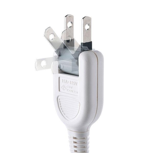 サンワサプライ マグネット付雷ガードタップ ホワイト 2P式/4個口/3m/マグネット付/ホコリ防止シャッター付 TAP-SP2114MG-3W 1個(直送品)