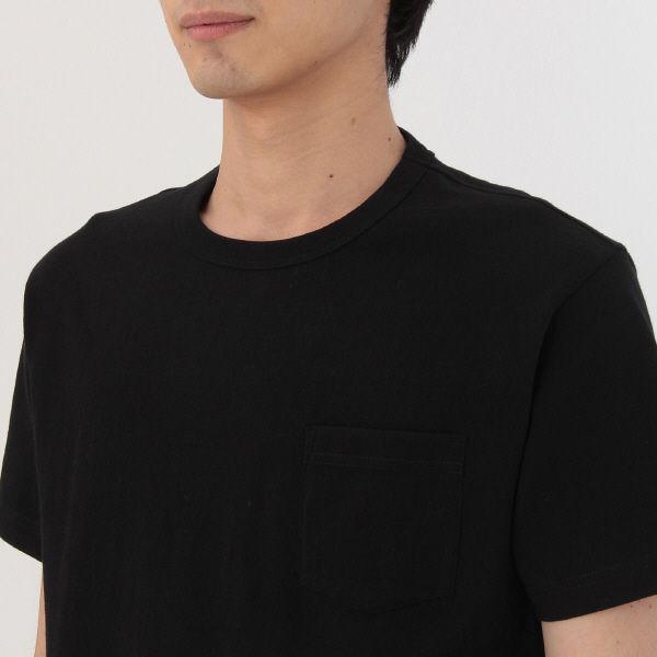 無印 ポケット付き半袖Tシャツ 紳士 M