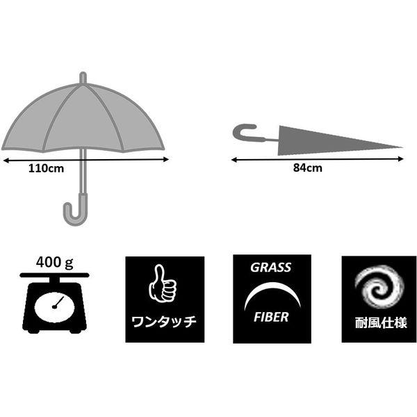 共栄工業 65cm ビニール ジャンプ傘 透明 40095 1セット(12本)(直送品)