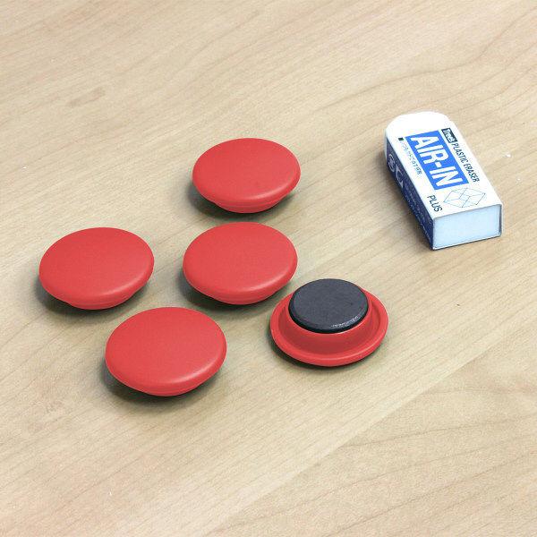 プラス カラーマグネット レッド 80596 1セット(15個:5個入×3パック)