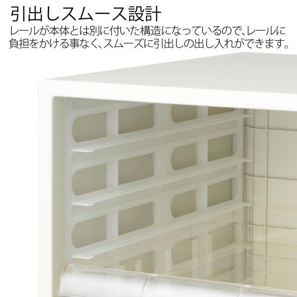 プラス レターケース 浅型7段 ホワイト 16116