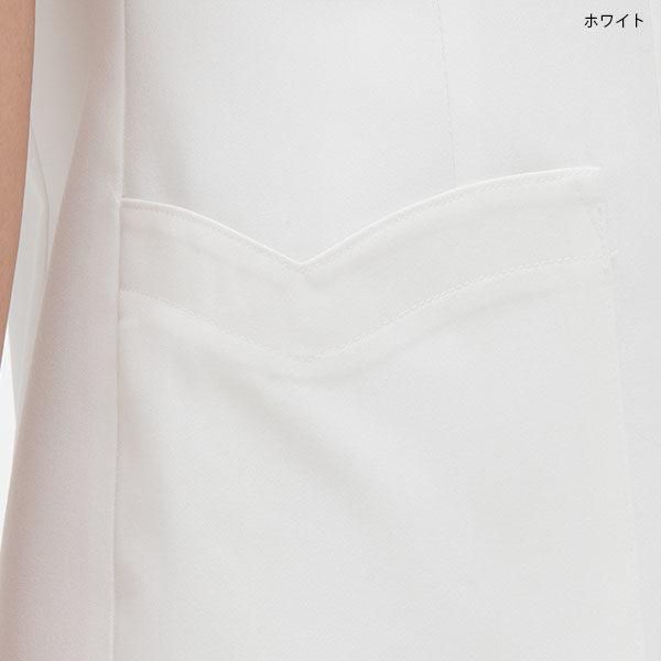ナガイレーベン チュニック(ロールカラー) ホワイト S FE-4522 (取寄品)