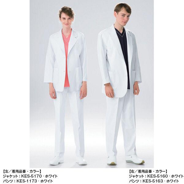 男子スラックス ホワイト L