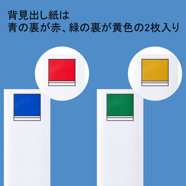 アスクル パイプ式ファイル 両開き ベーシックカラースーパー(2穴)A4ヨコ とじ厚100mm背幅116mm ブルー 5冊