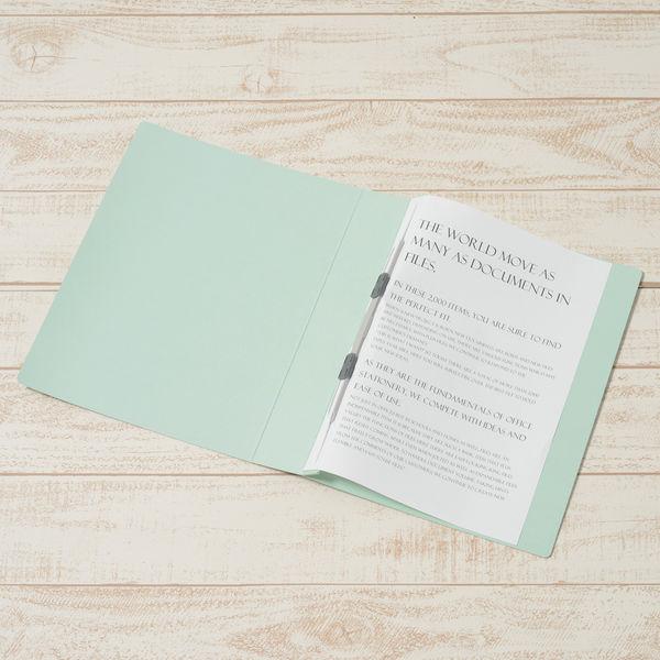 プラス フラットファイル厚とじ500 A4タテ ブルー 87985 1セット(50冊:10冊入×5袋)