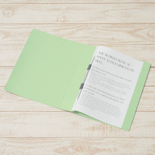 プラス フラットファイル厚とじ500 A4タテ グリーン 87986 1セット(30冊:10冊入×3袋)
