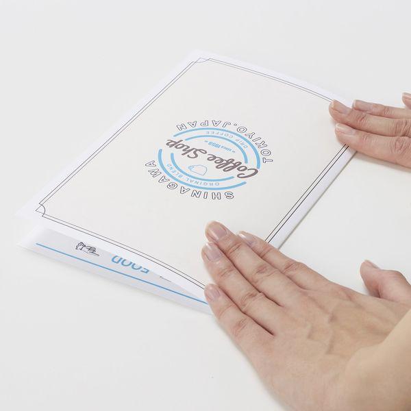 エーワン マルチカード プリントペーパー メニュー 案内状 ミシン目 プリンタ兼用 マット紙 白 厚口 A4 ノーカット1面 1袋(10シート入) 51553